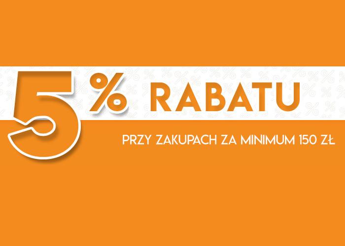 Rabat 5% przy zakupach za minimum 150 zł w BDsklep.pl