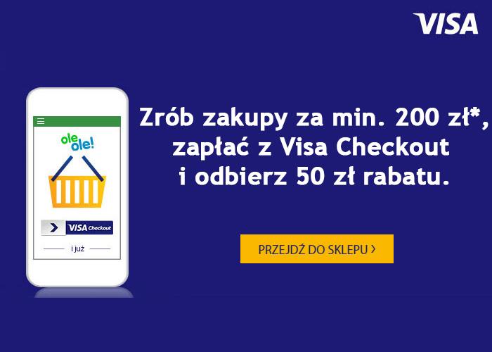 Zrób zakupy za min 200 zł, zapłać z Visa Checkout  i odbierz 50 zł rabatu.