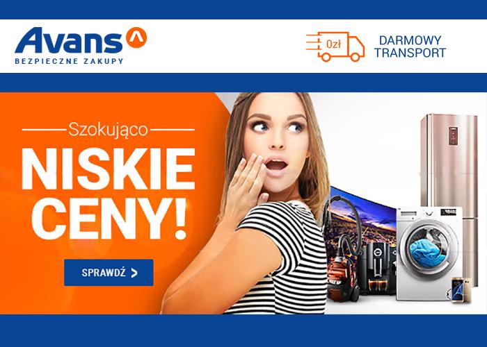 Tylko w Avans.pl szokująco niskie ceny i darmowa dostawa od 99 zł.