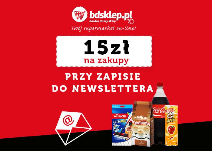 Rabat 15 PLN przy zapisie do newslettera BDsklep!