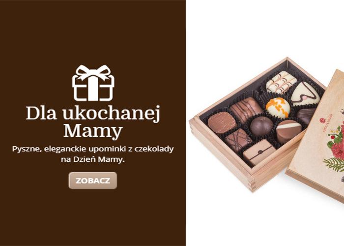 Dla ukochanej Mamy. Pyszne, eleganckie upominki z czekolady.