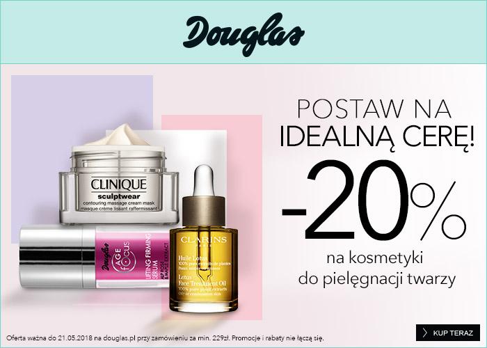 Rabat 20% na produkty do pielęgnacji twarzy przy zakupach za min 229 zł.