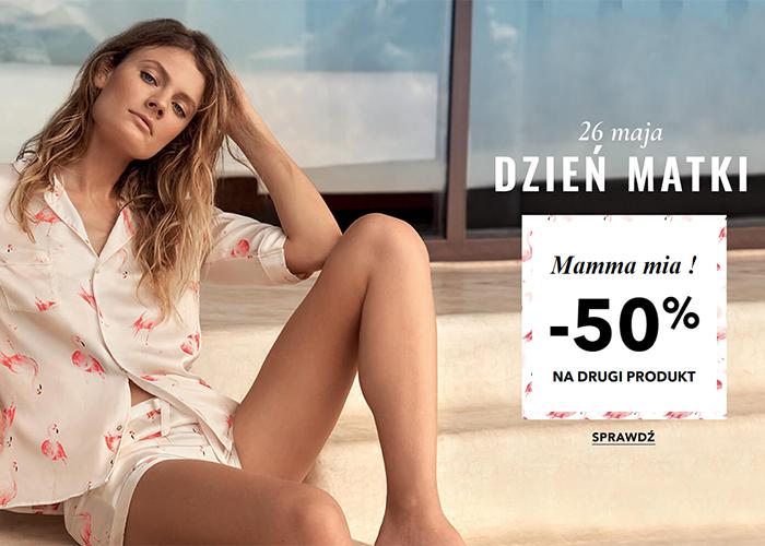 Mamma mia! Rabat -50% na drugi produkt w Etam!