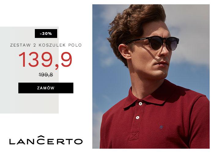 Zestaw 2 koszulek polo tylko 139,90 zł w LANCERTO!