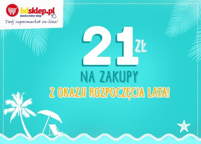 Zgarnij 21 zł na zakupy z okazji pierwszego dnia lata w BDsklep.