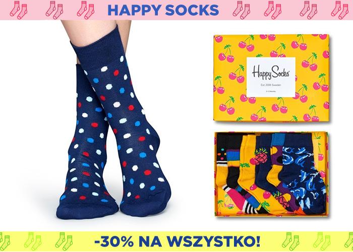 Wielo-kolorowe skarpetki Happy Socks podbijają rynek! Teraz -30% taniej!