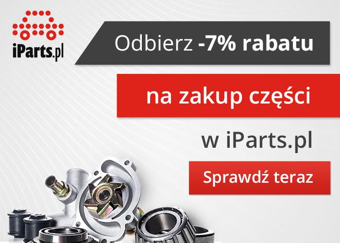 Odbierz 7% rabatu na zakupy części w iParts