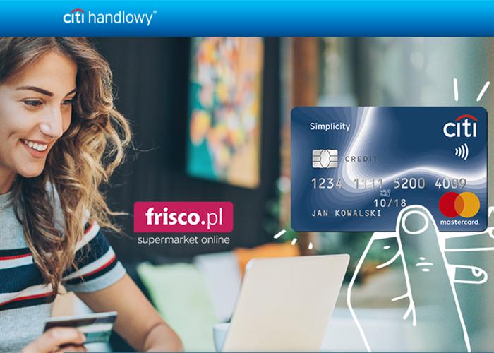 Załóż kartę kredytową w Citibank i odbierz 400 zł na zakupy w Frisco.pl