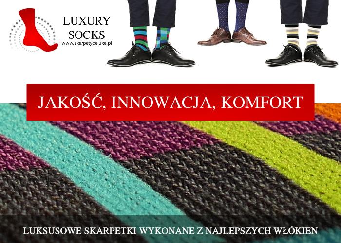 Jakość, innowacja, komfort. Odkryj luksusowe skarpety najwyższej jakości.