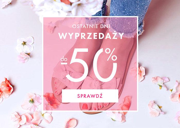 Ostatnie dni wyprzedaży w eObuwie.pl! Kupuj buty nawet 50% taniej!