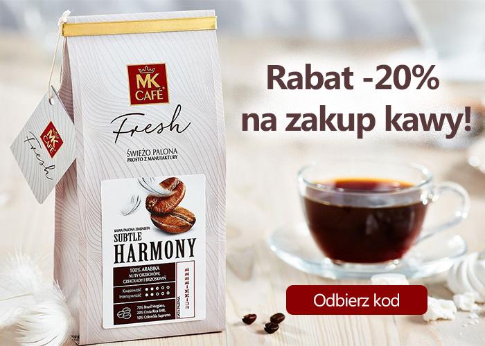 Rabat -20% na zakup kawy! Promocja do końca września! Odbierz kod.