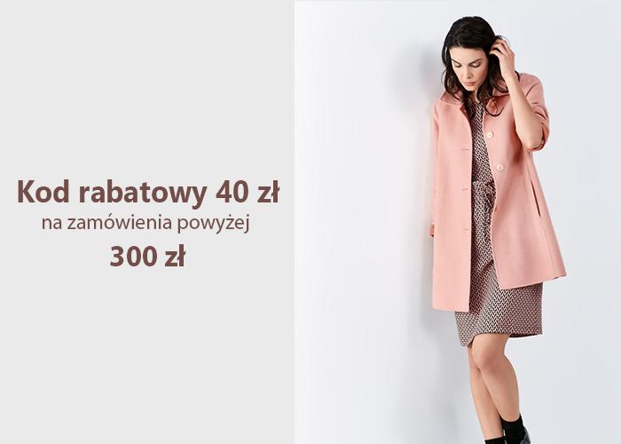 Odbierz kod rabatowy 40 zł na wszystkie zakupy powyżej 300 zł