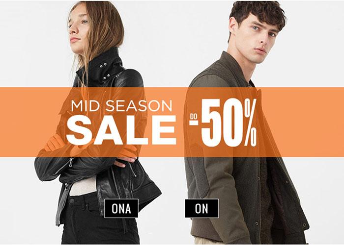 Mid season sale markowych produktów! Teraz tańsze nawet do 50%