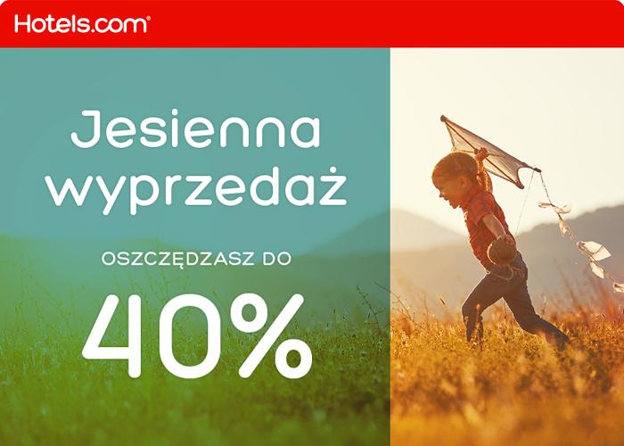 Otrzymaj 5% zwrotu za rezerwację w Hotels.com niezależnie od wyprzedaży!