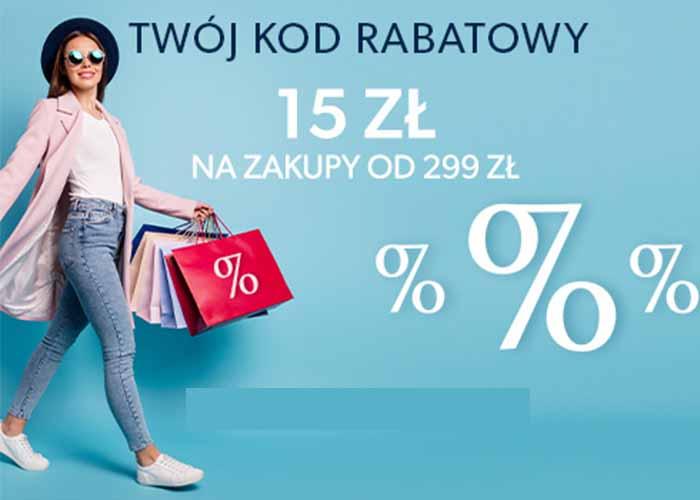 Zniżka 15 zł przy zakupach od 299 z!