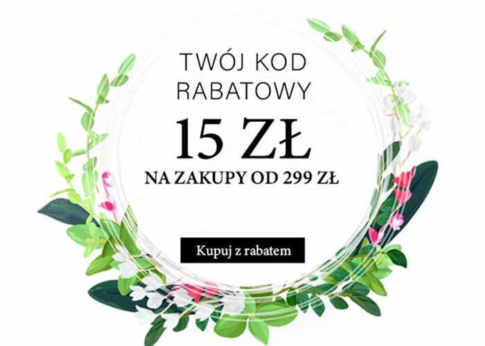 Zniżka 15 zł przy zakupach od 299 zł!