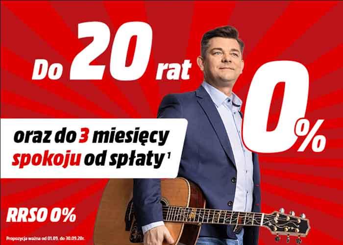 20 rat 0% z odroczeniem na 3 miesiące (RRSO 0%)!