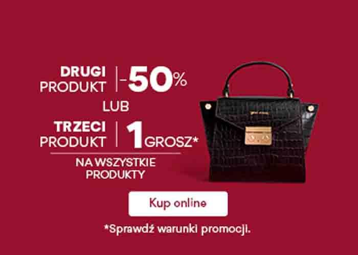 50% zniżki na drugi produkt lub trzeci produkt za 1 grosz!