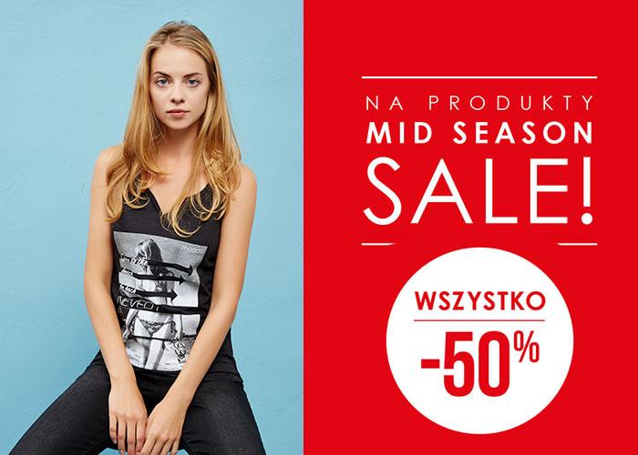 Rabat -50% na wszystkie produkty z kategorii Mid Season Sale!