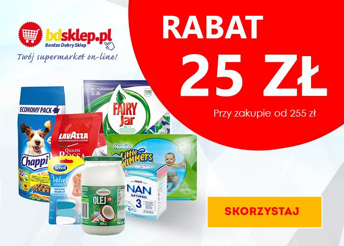 Bdsklep.pl - Twój supermarket online! Odbierz 25zł rabatu na całe zamówienie!
