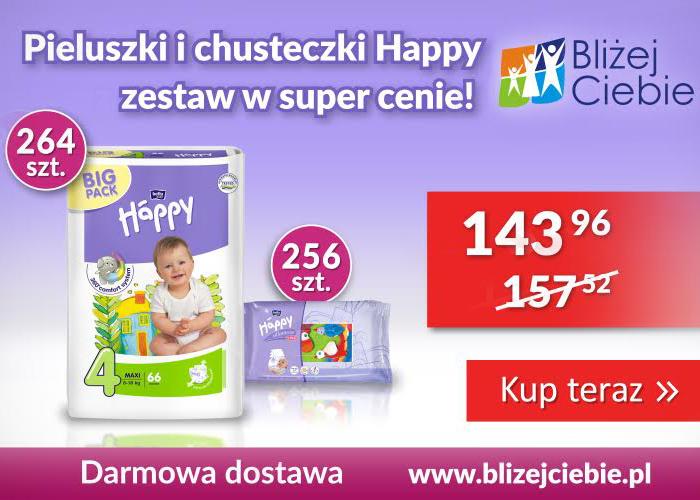 Zestaw pieluszek Happy - więcej kupujesz, więcej zyskujesz!
