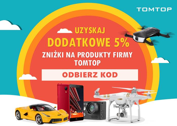 Uzyskaj 5% zniżki na produkty firmy TomTop! Odbierz kod rabatowy.