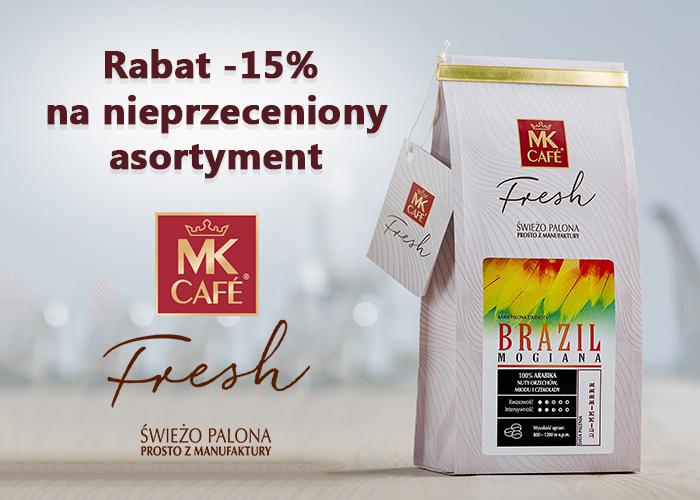 Świeżo palona kawa teraz -15% taniej na cały nieprzeceniony asortyment.