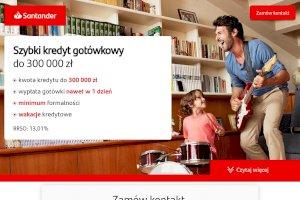 Santander - Szybki kredyt gotówkowy