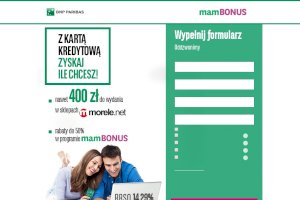 BGŻ BNP Paribas Karta kredytowa z bonem 400 zł do Morele.net