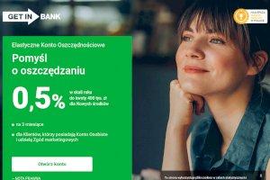 GET IN Bank -  Elastyczne Konto Oszczędnościowe