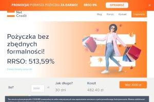 Net Credit - Darmowa pożyczka do 500 zł